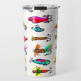 All the Fishing Lures - Illustration Travel Mug