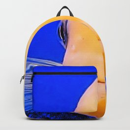 Yellow Fish Face Backpack