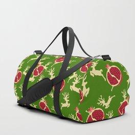 Christmas Reindeer Pomegranate Ornaments Baubles Duffle Bag
