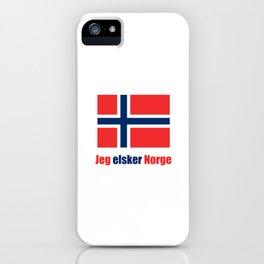 flag of norway 4 snow,scandinavia,scandinavian,norwegian,oslo iPhone Case