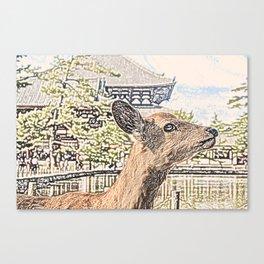 Kyoto Nara Japan ArtWork Painting Canvas Print