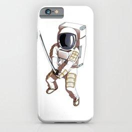 Space Samurai Astronaut Fighter Sword Kendo iPhone Case