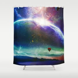 Guided By The Wind Shower Curtain