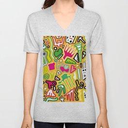 color doodle Unisex V-Neck