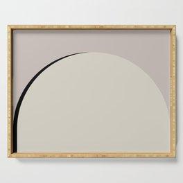 Curvature Minimalism III - Vintage Neutrals Serving Tray