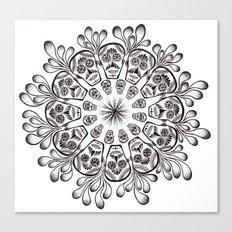Sugar Skull Mandala Canvas Print