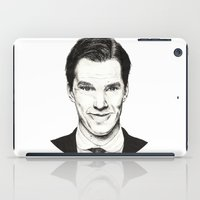 benedict cumberbatch iPad Cases featuring Benedict Cumberbatch (Ink portrait) by Marie | Gib