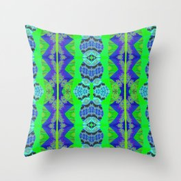 Soul Heal Color Therapy Neo Tribal Feng Shui Cooling Element Throw Pillow