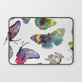 Butterfly Obsession in Blues Laptop Sleeve