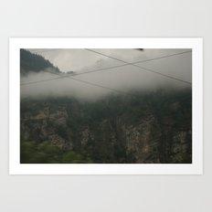 Foggy Mountains Art Print