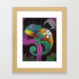 Midnight Chameleon Framed Art Print