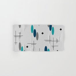 Ovals and Starbursts Teal Hand & Bath Towel