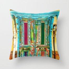 Beautiful Multi-Colored Doorway Photograph Throw Pillow