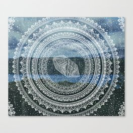 Crystal Mandala - Lake Windermere Landscape Canvas Print