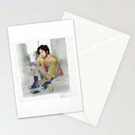 kit and his neon kimono Stationery Cards