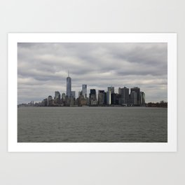 Fifty Shades of Grey NYC Manhattan Skyline Art Print