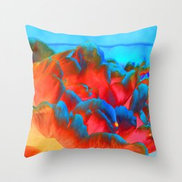 Peony on the Wildside Throw Pillow