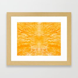 underwater fire, a coral dream of tree branches in orange Framed Art Print