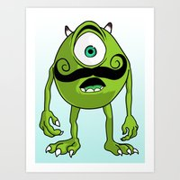 mike wrobel Art Prints featuring Mike by Satanoncrack