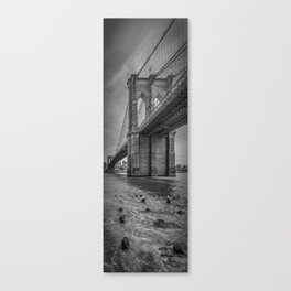 NEW YORK CITY Brooklyn Bridge | upright slim panorama Canvas Print