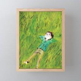 On the grass Framed Mini Art Print
