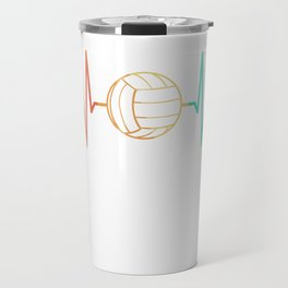 Volleyball Player Game Vintage Retro Travel Mug