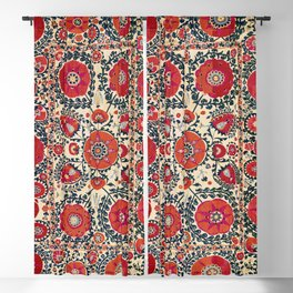 Shakhrisyabz Bokhara Uzbekistan Silk Embroidery Print Blackout Curtain
