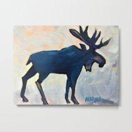 Appreciation - Moose Metal Print