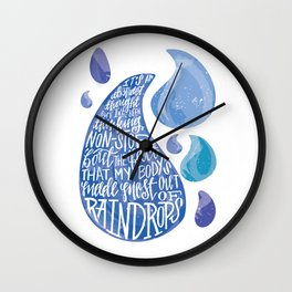 Saltwater Heart. [Switchfoot] Wall Clock