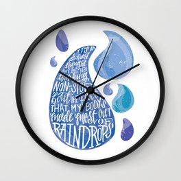 Saltwater Heart. [Switchfoot] Wall Clock