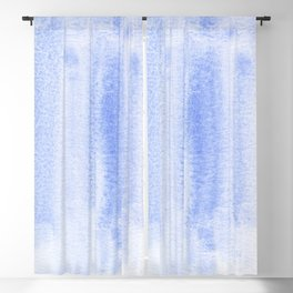 Blue lake watercolor design Blackout Curtain