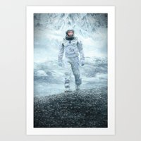 interstellar Art Prints featuring Interstellar by crayonide
