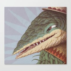 Croc Surprise Canvas Print