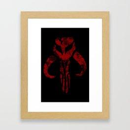 Mandalorian (Red) Framed Art Print