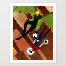 Hulk/Wicc Fan Fic (Only Real) Art Print