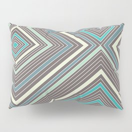 Blue, Yellow, Green and Gray Lines - Illusion Pillow Sham