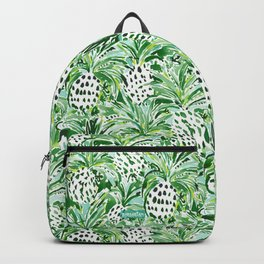 TROPICAL SITCH Green Pineapple Watercolor Backpack