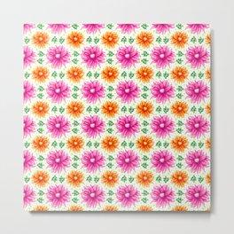 Pink and orange cacti flower Metal Print