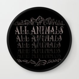 All Animals Wall Clock