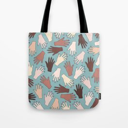 Nail Expert Studio - Colorful Manicured Hands Pattern Tote Bag