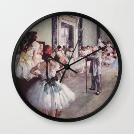 The Ballet Class- Edgar Degas Wall Clock