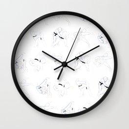 Judo Throw Pattern Wall Clock