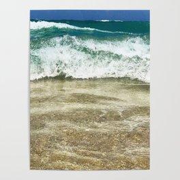 Ocean Tide Dye Poster