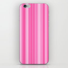 Pink Candy Stripe iPhone Skin