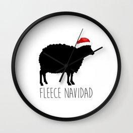 Fleece Navidad Wall Clock