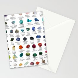 crystals gemstones identification Stationery Cards