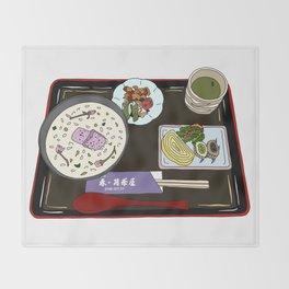 Nara Japanese Lunch Platter Throw Blanket