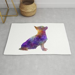 Chihuahua 01 in watercolor Rug