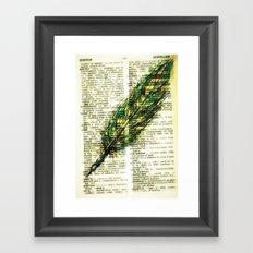 quill n. Framed Art Print