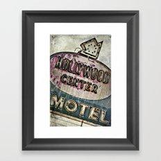 Grunge Hollywood Motel Sign Framed Art Print